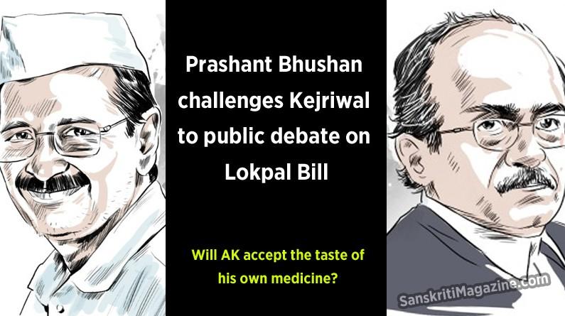 Prashant Bhushan challenges Arvind Kejriwal to public debate on Lokpal Bill