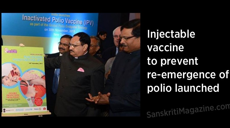 Injectable vaccine to prevent re-emergence of polio launched