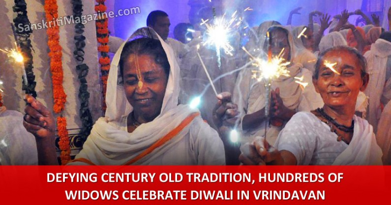 Defying century old tradition, hundreds of widows celebrate diwali in Vrindavan