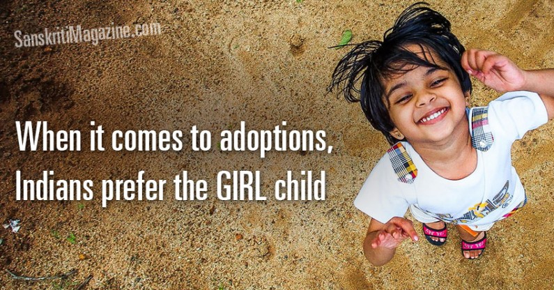 When it comes to adoptions, Indians prefer the girl child