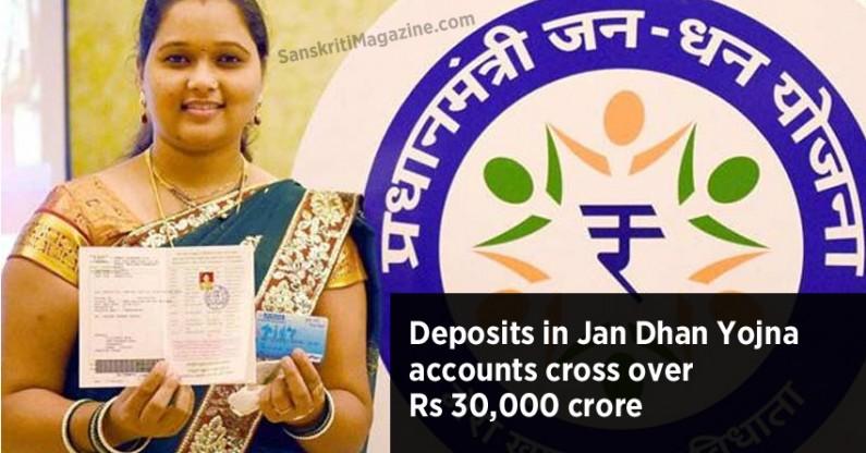 Deposits in Pradhan Mantri Jan Dhan accounts cross Rs 30,000 cr