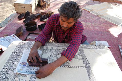 Jayanti Chitara printing mata ni pachedi - Ahmedabad 2012