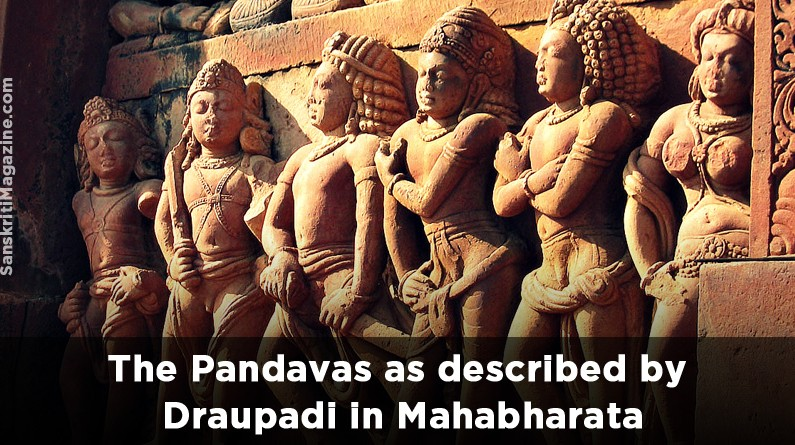 The Pandavas as described by Draupadi in Mahabharata