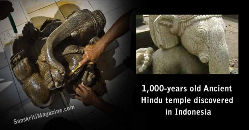 1,000-years old Ancient Hindu Temple discovered in Indonesia