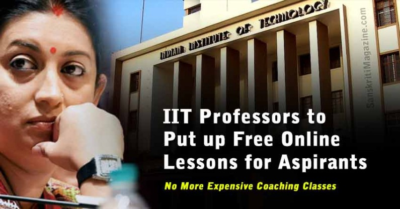 IIT Professors to Put up Free Online Lessons for Aspirants