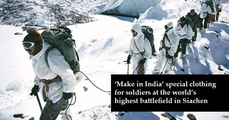 'Make in India' special clothing for soldiers at the world's highest battlefield in Siachen