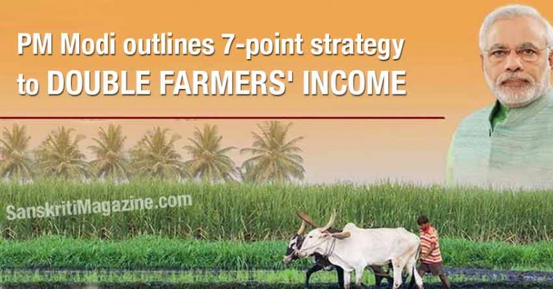 PM Modi outlines 7-point strategy to double farmers' income