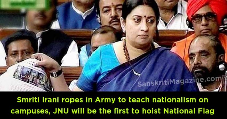 Smriti Irani ropes in Army to teach nationalism on campus