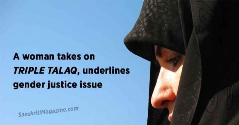 A woman takes on triple talaq, underlines gender justice issue