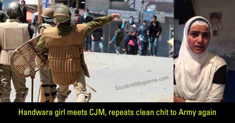 Handwara girl meets CJM, repeats clean chit to Army