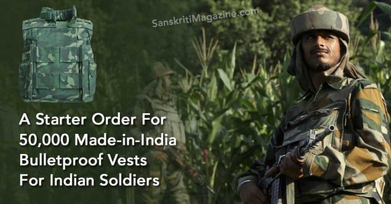 A Starter Order For 50,000 Made-in-India Bulletproof Vests For Indian Soldiers