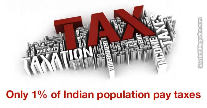 Only 1% of Indian population pay taxes, reveals government data