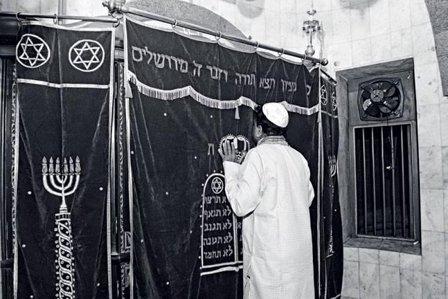 A Jewish devotee at the Holy Ark. Photo: Danesh Jassawala