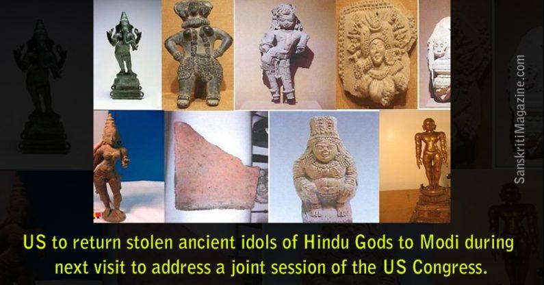 US to return stolen ancient idols of Hindu Gods to Modi
