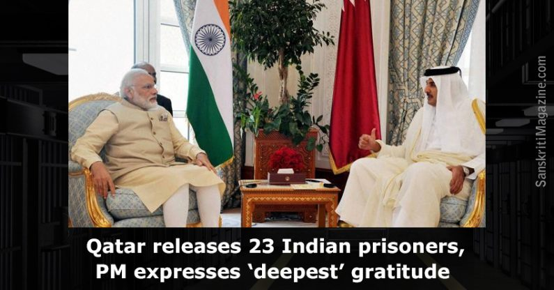 Qatar releases 23 Indian prisoners, PM expresses 'deepest' gratitude
