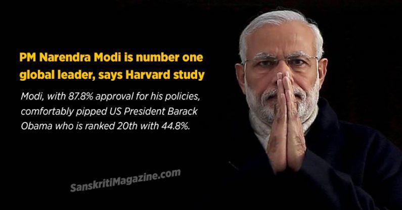 PM Narendra Modi is number one global leader, says Harvard study
