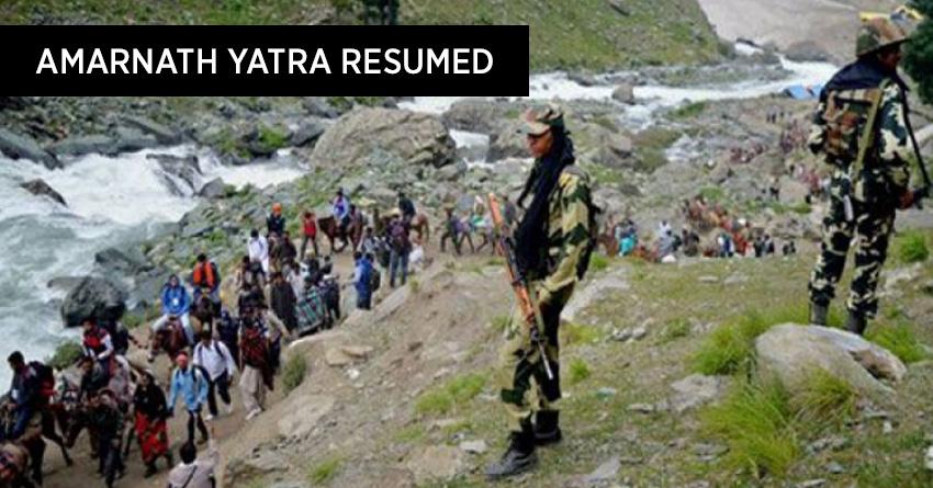 Amarnath yatra 2016 resumed