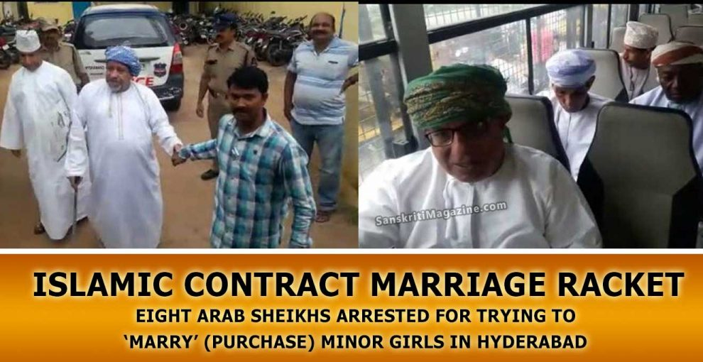 Eight-Arab-sheikhs-arrested-for-trying-to-'marry'-(purchase)-minor-girls-in-Hyderabad