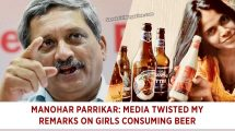 Manohar Parrikar: Media twisted my remarks on girls consuming beer