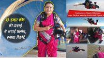 Pune-Woman-Shital-Mahajan-Skydives-In-Saree,-Sets-New-Record