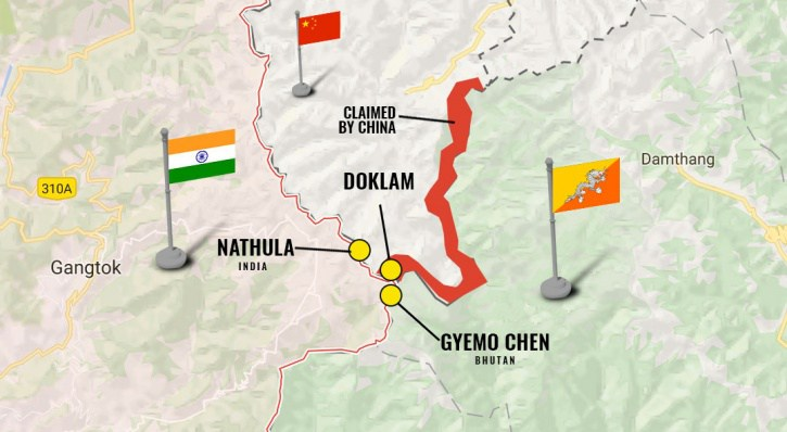 doklam bhutan india
