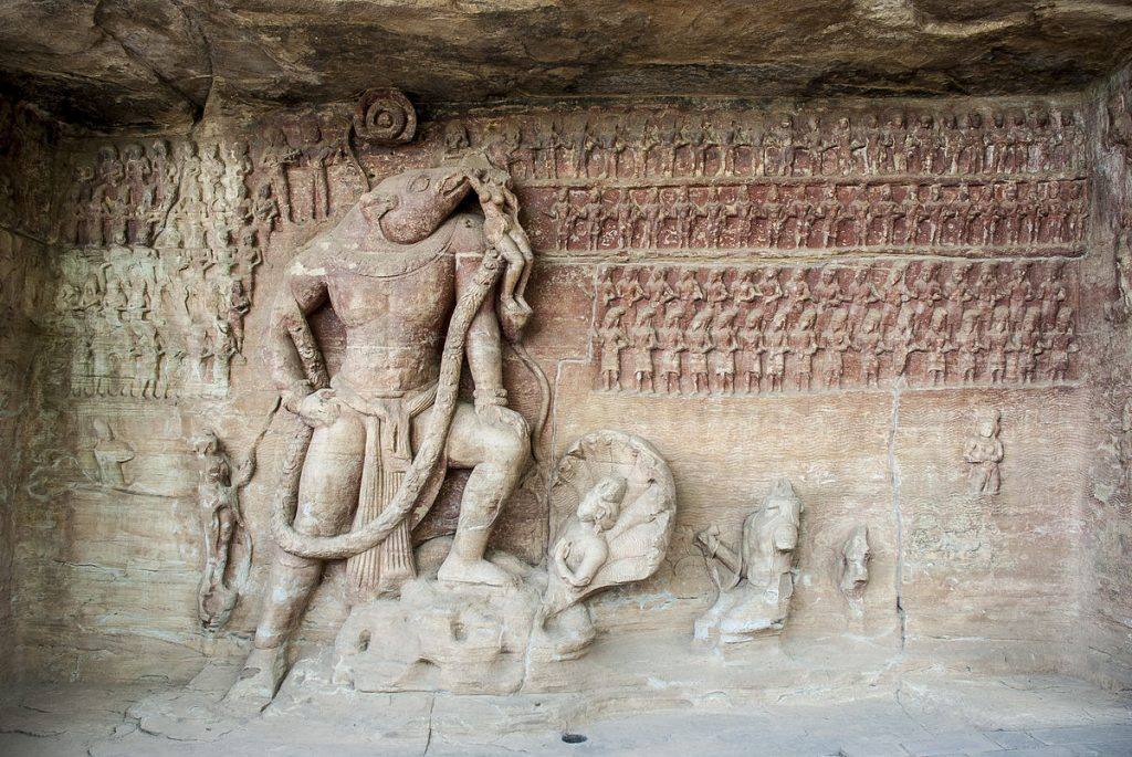 varaha-avatar-uplifts-Prithvi-from-Rasaatala