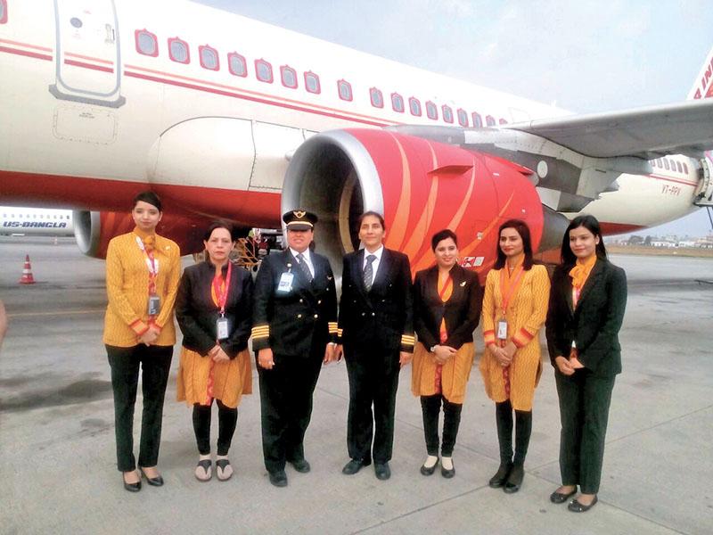 All-women-crew-Air-India-flight