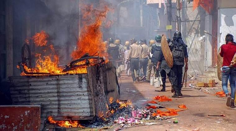 Stone pelting during Ram Navami procession in Asansol