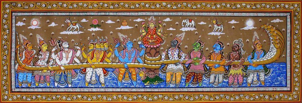 Shiva drinking poison