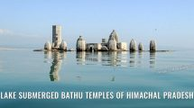 Lake submerged Bathu Temples of Himachal Pradesh