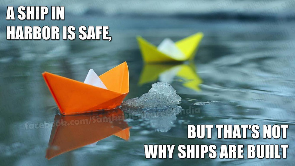 Don't seek safe harbor, learn to ride the waves.