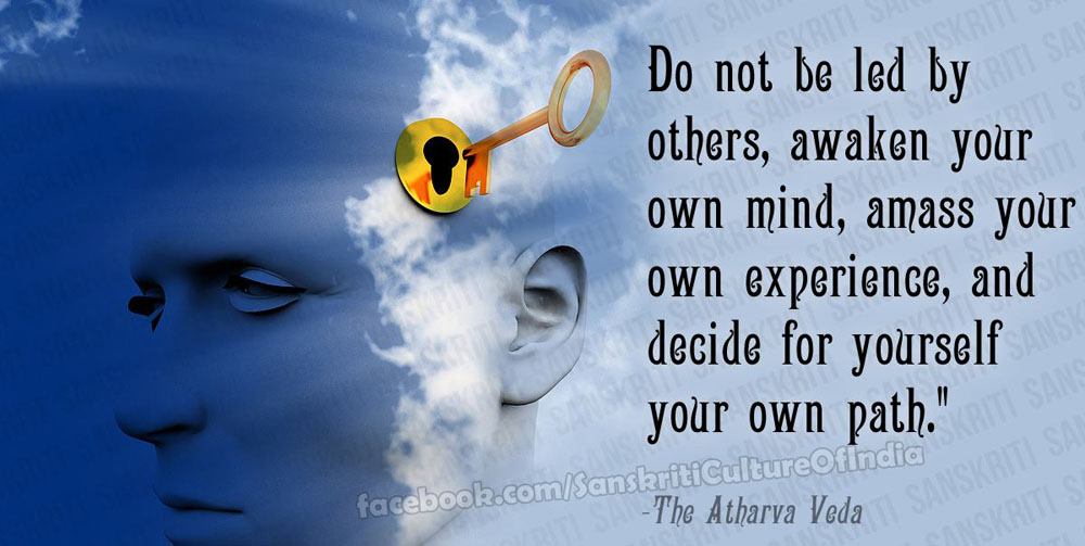 Decide for yourself your own path