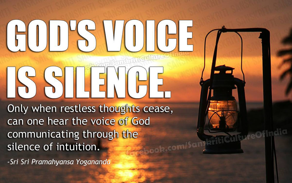 God's Voice is Silence