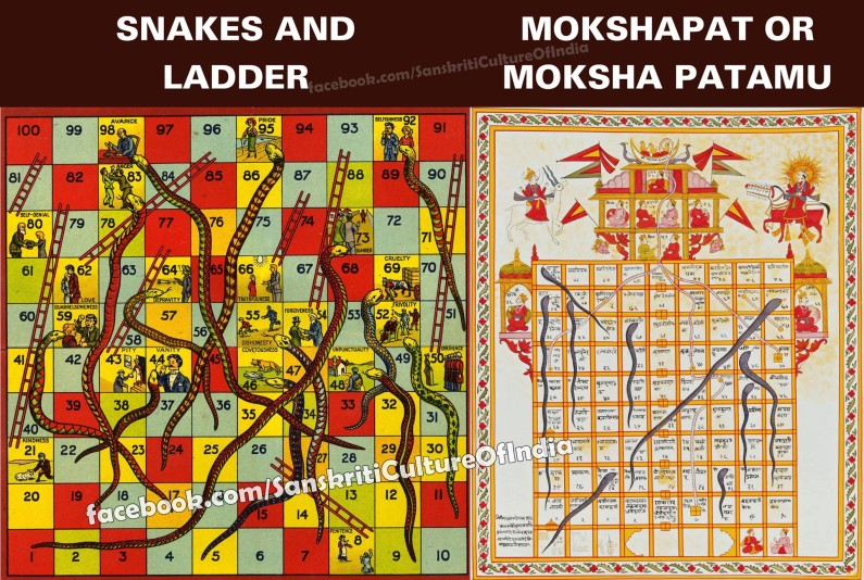 Snakes and Ladders is an ancient Indian board game…