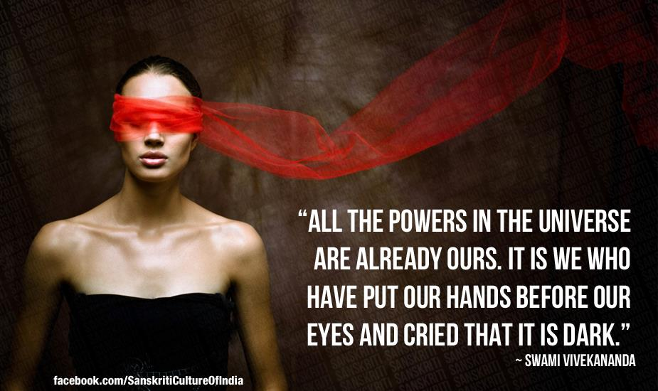 All the powers in the universe are already ours.
