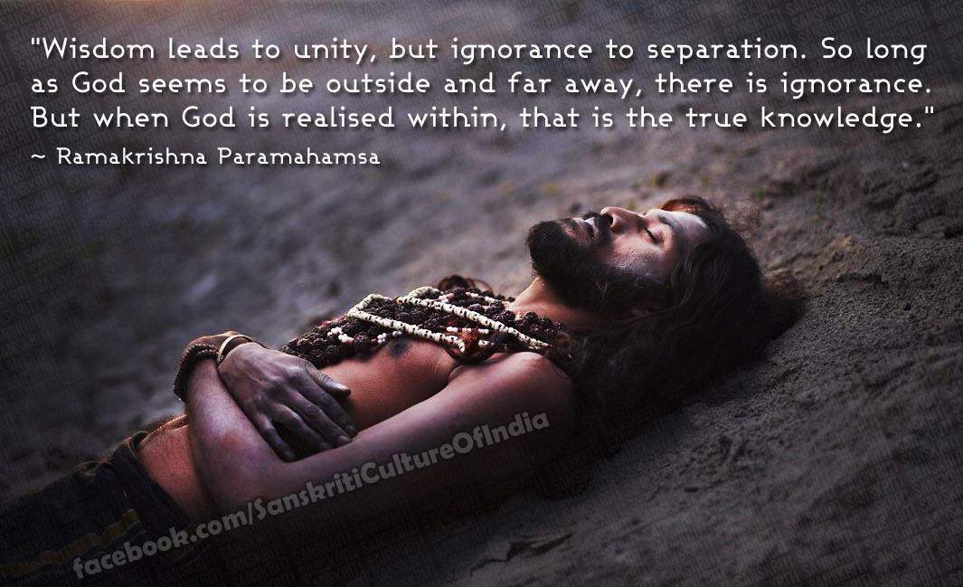Wisdom leads to unity