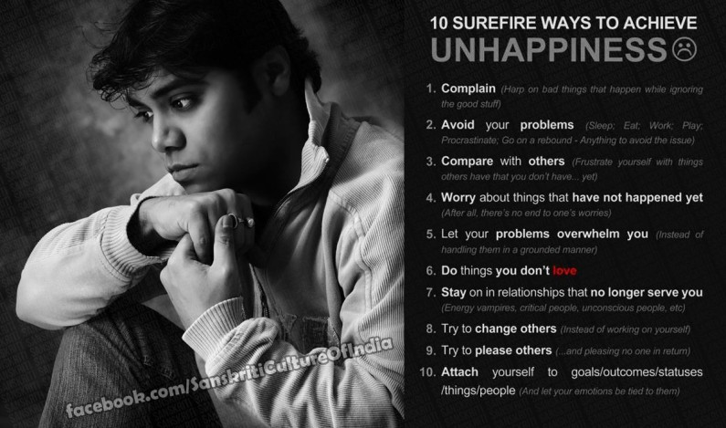 10 Simple rules to misery