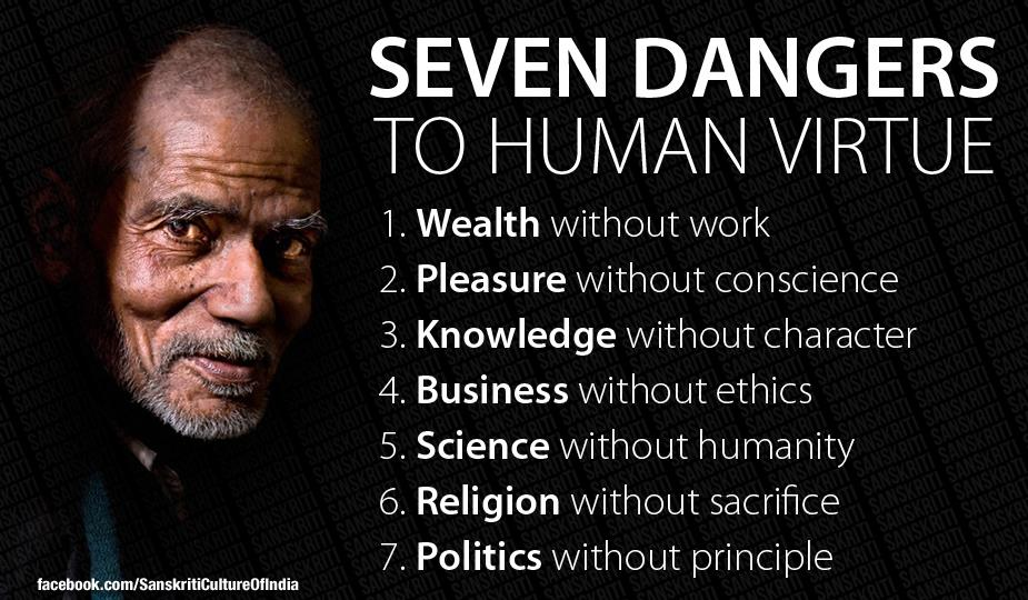 Seven Dangers to Human Virtue.