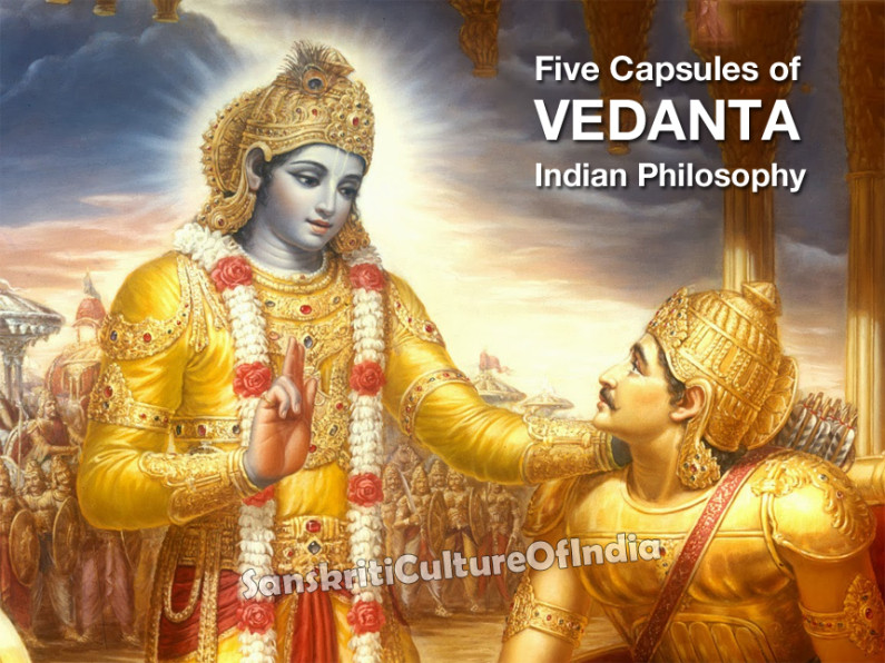 Five Capsules of Vedanta Indian Philosophy