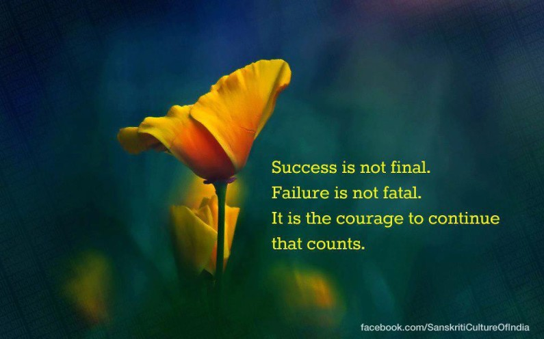 It is the courage to take the journey that counts