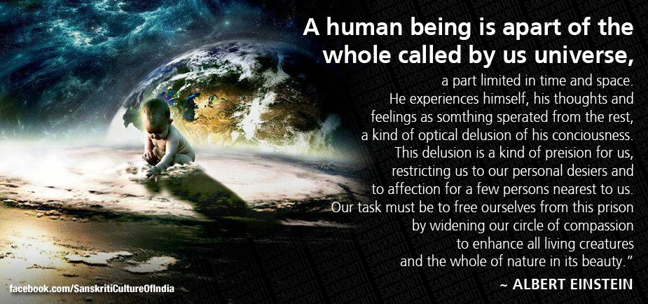A human being is a part the universe