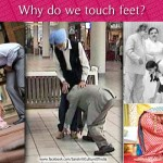 Why do we touch feet?