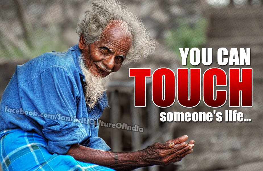 You can touch someone's life
