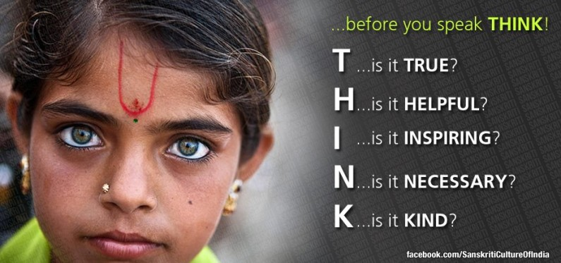Think – before you speak