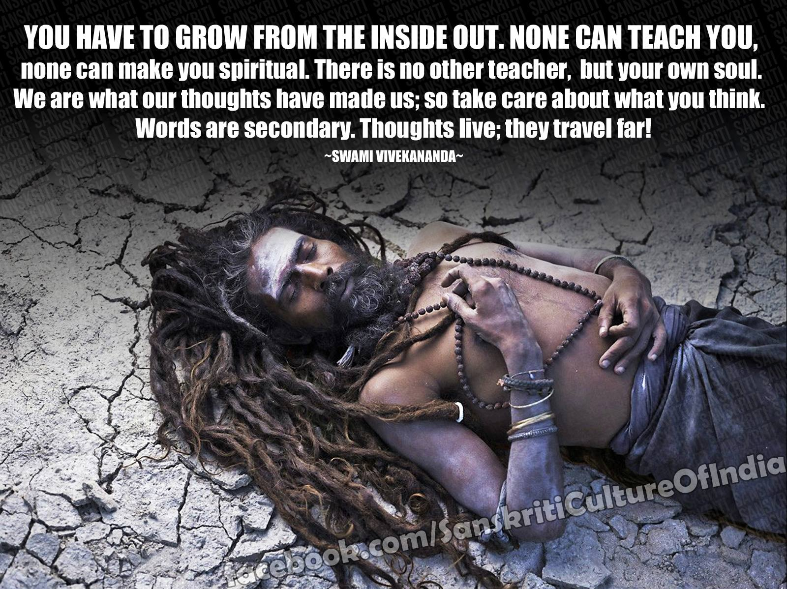 You have to grow from inside...