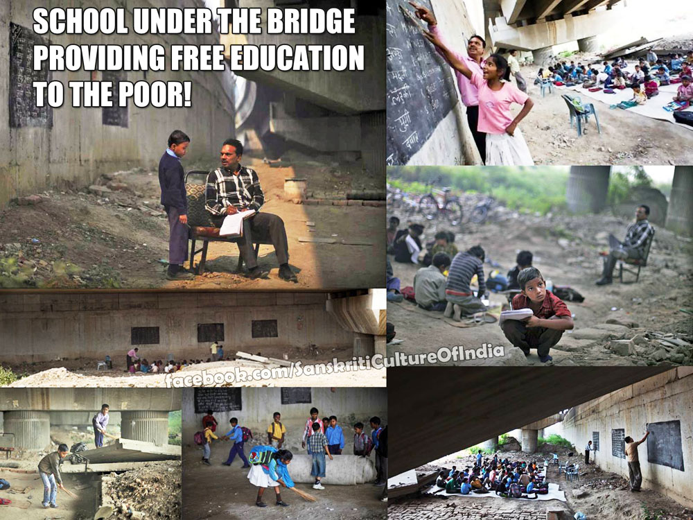 The school under the bridge in New Delhi!