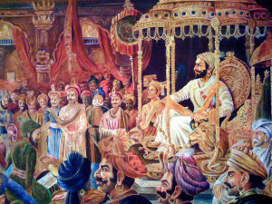 """You are a Mahratta and still that is all you know of the greatest king that India had produced within the last three hundred years; one who was the very incarnation of Siva, about whom prophecies were given out long before he was born; and his advent was eagerly expected by all the great souls and saints of Maharashtra as the deliverer of the Hindus from the hands of the Mlechchas and one who succeeded in the establishment of the Dharma which had been trampled under foot by the depredations of the devastating hordes of the Moghals."""