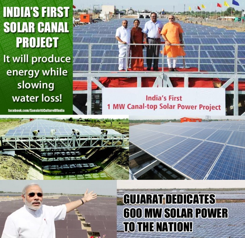 India's first solar canal Project