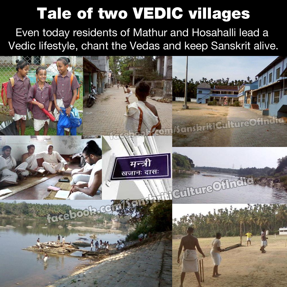 "The two Sanskriti speaking VEDIC villages in ""modern"" India"