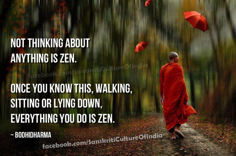 Not Thinking About Anything is Zen